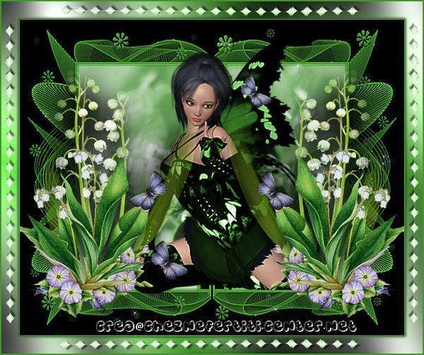 1er mai muguet femme et papillons centerblog - Image muguet 1 mai ...